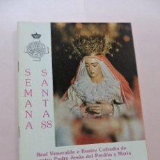 Collezionismo: SEMANA SANTA 88. HORARIO E ITINERARIOS DE LOS DESFILES PROCESIONALES. 1988 GRANADA. Lote 295453263