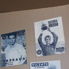 Coleccionismo: LOTE IDOLOS DEL DEPORTE VICENTE BASORA Y ZARRAGA. Lote 295632658