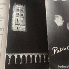 Coleccionismo: PROGRAMA , AÑO : 1.953 PAU CASALS. Lote 295639278