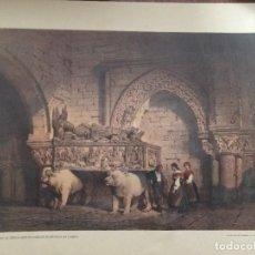 Coleccionismo: SEPULCRO DE FERNAN PEREZ DE ANDRADE EL BETANZOS ACORUÑA ELÉXPURU HERMANOS S.A. BILBAO. Lote 295645328