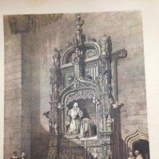 Coleccionismo: SEPULCRO DEL INFANTE DON ALFONSO CARTUJA DE MIRAFLORES ELÉXPURU HERMANOS S.A. BILBAO. Lote 295646888