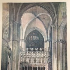 Coleccionismo: COSTADO DE LA CAPILLA MAYOR DE LA CATEDRAL DE TOLEDO ELÉXPURU HERMANOS S.A. BILBAO. Lote 295647878