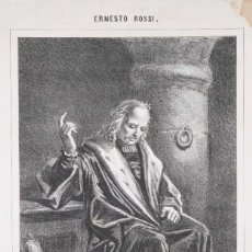 Coleccionismo: LITOGRAFIA/LÁMINA EN LA ESCENA TRÁJICA. ULTIMA HORA DE CRISTOBAL COLON - I.LÓPEZ EDITOR -1868. Lote 295858038