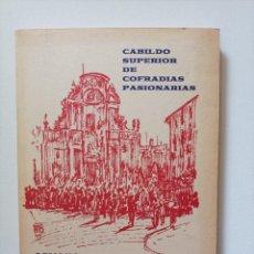 Coleccionismo: PROGRAMA OFICIAL DE SEMANA SANTA DE MURCIA. CABILDO SUPERIOR DE COFRADÍAS PASIONARIAS. MURCIA, 1968. Lote 296058553
