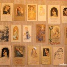 Coleccionismo: LOTE DE 21 TARJETAS DE PRIMERA COMUNIÓN AÑO 50/60. Lote 296059378