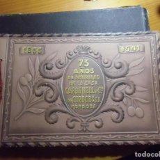 Coleccionismo: MAGNIFICO ALBUM REPRESENTATIVO DE LA HISTORIA DE LA CASA CARBONELL Y CIA DE CORDOBA.1941.RARO.. Lote 297103218