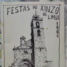 Coleccionismo: FESTAS DE XINZO DE LIMIA. 1981. Lote 297111298