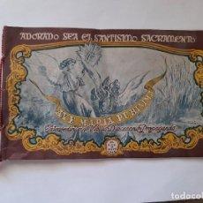 Coleccionismo: FOLLETO ADORACIÓN NOCTURNA DE JÁTIVA INVITACIÓN A LÍRIA 1945 LLIRIA. Lote 297116848
