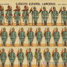 Coleccionismo Recortables: RECORTABLE DE SOLDADOS: LANCEROS (ED.PALUZIE NUM. 251). APROX.AÑOS 1920. Lote 4055807