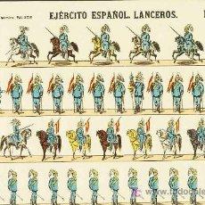 Coleccionismo Recortables: RECORTABLE DE SOLDADOS: EJERCITO ESPAÑOL. LANCEROS (ED.PALUZIE NUM. 275). APROX.AÑOS 1920. Lote 12555493