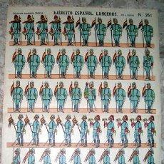 Coleccionismo Recortables: RECORTABLE MILITAR DE PALUZIE Nº 251 EJERCITO ESPAÑOL LANCEROS. Lote 169653806