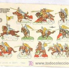 Coleccionismo Recortables: RECORTABLE EDICIONES BRUGUERA 1960 CABALLERIA NORMANDA AÑO 1000 17 CM X 12 CM. Lote 4081562
