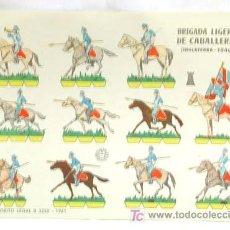 Coleccionismo Recortables: RECORTABLE EDICIONES BRUGUERA 1961 BRIGADA LIGERA DE CABALLERIA (INGLATERRA 1840) 24 CM X 17 CM. Lote 4087068