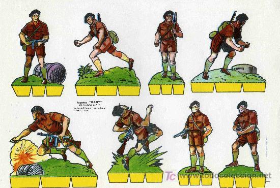 RECORTABLE BABI SERIE SOLDADOS Nº 3 EDIT. ROMA (Coleccionismo - Recortables - Soldados)