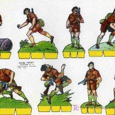 Coleccionismo Recortables: RECORTABLE BABI SERIE SOLDADOS Nº 3 EDIT. ROMA. Lote 4611671