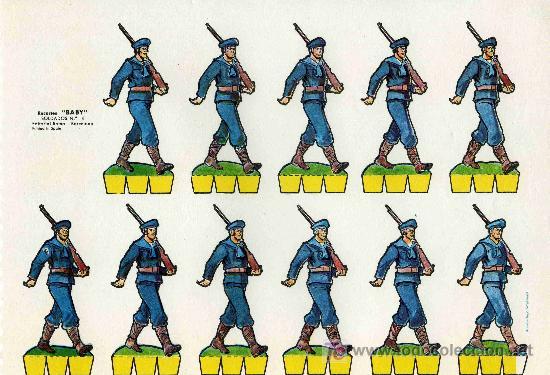 RECORTABLE BABI SERIE SOLDADOS Nº 4 EDIT. ROMA (Coleccionismo - Recortables - Soldados)