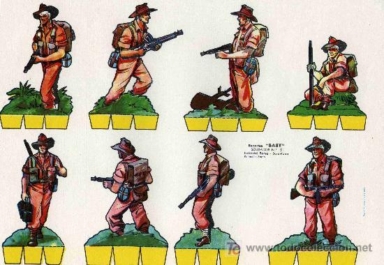 RECORTABLE BABI SERIE SOLDADOS Nº 5 EDIT. ROMA (Coleccionismo - Recortables - Soldados)