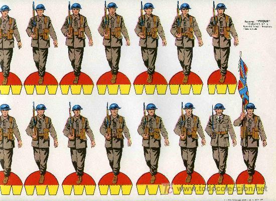 RECORTABLE PEQUE SERIE SOLDADOS Nº 6 EDIT. ROMA (Coleccionismo - Recortables - Soldados)