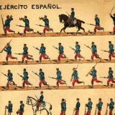 Coleccionismo Recortables: RECORTABLE SUCESORES DE HERNANDO, SERIE, EJERCITO ESPAÑOL, Nº 12. Lote 11450841