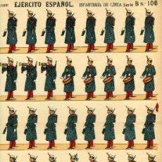 Coleccionismo Recortables: RECORTABLE PALUZIE EJERCITO ESPAÑOL SERIE B, Nº 106 INFANTERIA DE LINEA. Lote 4713310