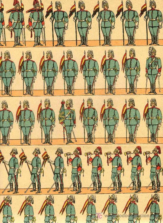 RECORTABLE PALUZIE SERIE EJERCITO ESPAÑOL Nº 251 LANCEROS (Coleccionismo - Recortables - Soldados)