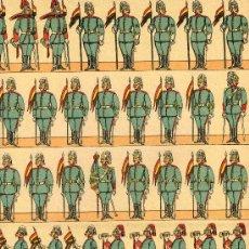Coleccionismo Recortables: RECORTABLE PALUZIE SERIE EJERCITO ESPAÑOL Nº 251 LANCEROS. Lote 4713429