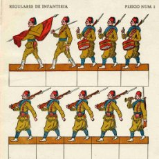 Coleccionismo Recortables: RECORTABLE Nº 1 REGULARES DE INFANTERIA. Lote 4713588