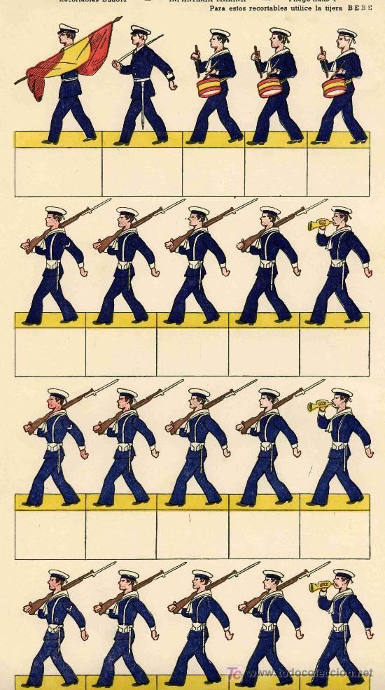 RECORTABLE Nº4 INFANTERIA DE MARINA (Coleccionismo - Recortables - Soldados)