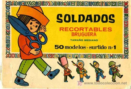 RECORTABLE ALBUM CON 50 MODELOS DE SOLDADOS BRUGUERA (Coleccionismo - Recortables - Soldados)