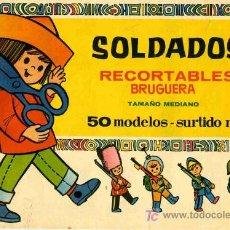 Coleccionismo Recortables: RECORTABLE ALBUM CON 50 MODELOS DE SOLDADOS BRUGUERA. Lote 4714306