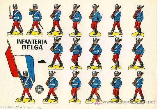 RECORTABLE BRUGUERA INFANTERIA BELGA (Coleccionismo - Recortables - Soldados)
