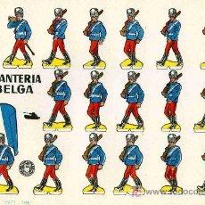Coleccionismo Recortables: RECORTABLE BRUGUERA INFANTERIA BELGA. Lote 4714325