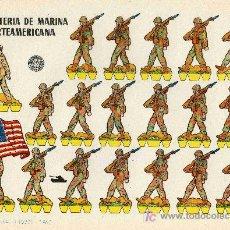 Coleccionismo Recortables: RECORTABLE BRUGUERA INFANTERIA DE MARINA NORTEAMERICANA. Lote 4714329