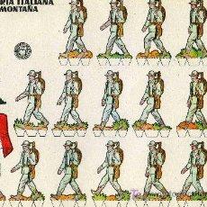 Coleccionismo Recortables: RECORTABLE BRUGUERA INFANTERIA ITALIANA DE MONTAÑA. Lote 4714338