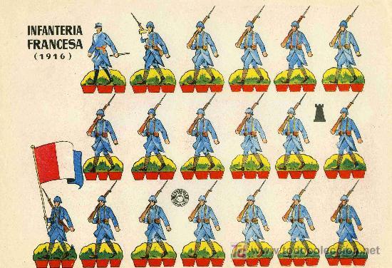 RECORTABLE BRUGUERA INFANTERIA FRANCESA 1.916 (Coleccionismo - Recortables - Soldados)