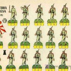 Coleccionismo Recortables: RECORTABLE BRUGUERA INFANTERIA JAPONESA (1.931). Lote 4714401