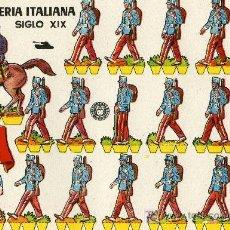 Coleccionismo Recortables: RECORTABLE BRUGUERA INFANTERIA ITALIANA SIGLO XIX. Lote 4714413