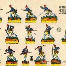 Coleccionismo Recortables: RECORTABLE BRUGUERA INFANTERIA DE HESSE-CASSEL (ALEMANIA 1.776). Lote 4714417