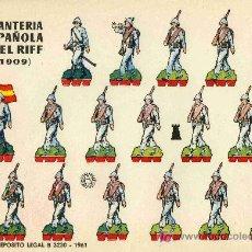 Coleccionismo Recortables: RECORTABLE BRUGUERA INFANTERIA ESPAÑOLA EN EL RIFF (1.909). Lote 4714443