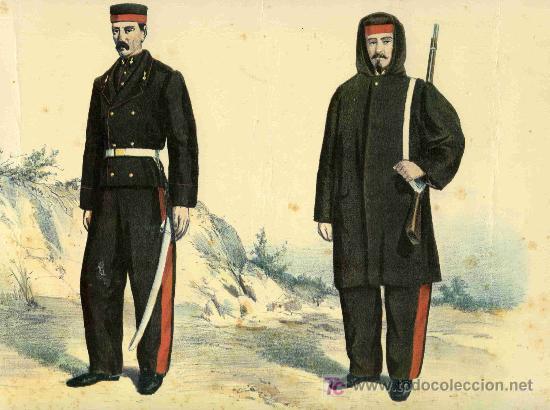 LAMINA DE SOLDADOS DE ARTILLERIA TAMAÑO 33X43 CTS. TROPA DE DIARIO CON PONCHO (Coleccionismo - Recortables - Soldados)