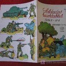 Coleccionismo Recortables: SOLDADOS RECORTABLES LA TIJERA SERIE B Nº 4 LIBRITO DE 4 LAMINAS RECORTABLES. Lote 27123632