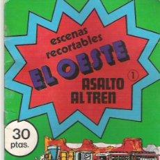 Coleccionismo Recortables: ESCENAS RECORTABLES - EL OESTE EL ASALTO AL TREN ***NUM 1 *** EDI BAUSAN *** 1979. Lote 7598694