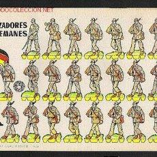 Coleccionismo Recortables: RECORTABLE MILITAR CAZADORES ALEMANES DE BRUGUERA. 1960. Lote 2811846
