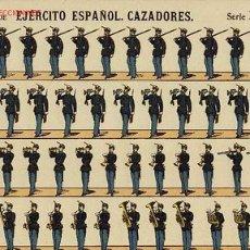 Coleccionismo Recortables: RECORTABLE DE SOLDADOS: EJERCITO ESPAÑOL. CAZADORES (ED.PALUZIE SERIE D NUM. 251). APROX.AÑOS 1920. Lote 4055804