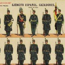 Coleccionismo Recortables: RECORTABLE DE SOLDADOS: EJERCITO ESPAÑOL. CAZADORES (ED.PALUZIE NUM. 46). APROX.AÑOS 1920. Lote 4055803