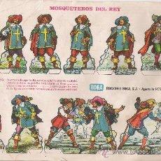 Coleccionismo Recortables: RECORTABLES MOSQUETEROS DEL REY. EDICIONES BOGA.. Lote 9838676