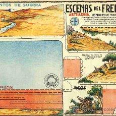 Coleccionismo Recortables: RECORTABLE DE SOLDADOS: ESCENAS DEL FRENTE, DE ED.GALVEZ. Lote 9950303