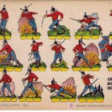 Coleccionismo Recortables: RECORTABLES.(17X24).BRUGUERA 1960.ARTILLERO MONTADO INGLÉS-1885. Lote 10564197