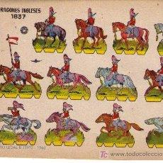 Coleccionismo Recortables: RECORTABLES.(17X24).BRUGUERA 1960.DRAGONS INGLESES 1837. Lote 10564550