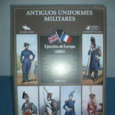 Coleccionismo Recortables: RECORTABLE TROQUELADO ANTIGUOS UNIFORMES MILITARES EJERCITOS DE EYROPA. Lote 10624949
